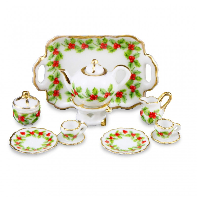 Mistletoe Tea Set, 11 Pieces