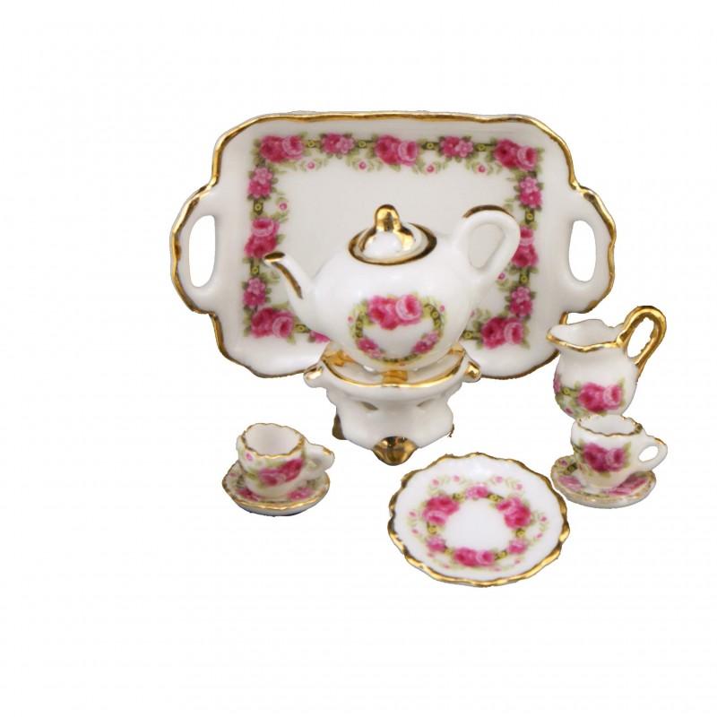 Roseband Tea Set, 11 Pieces