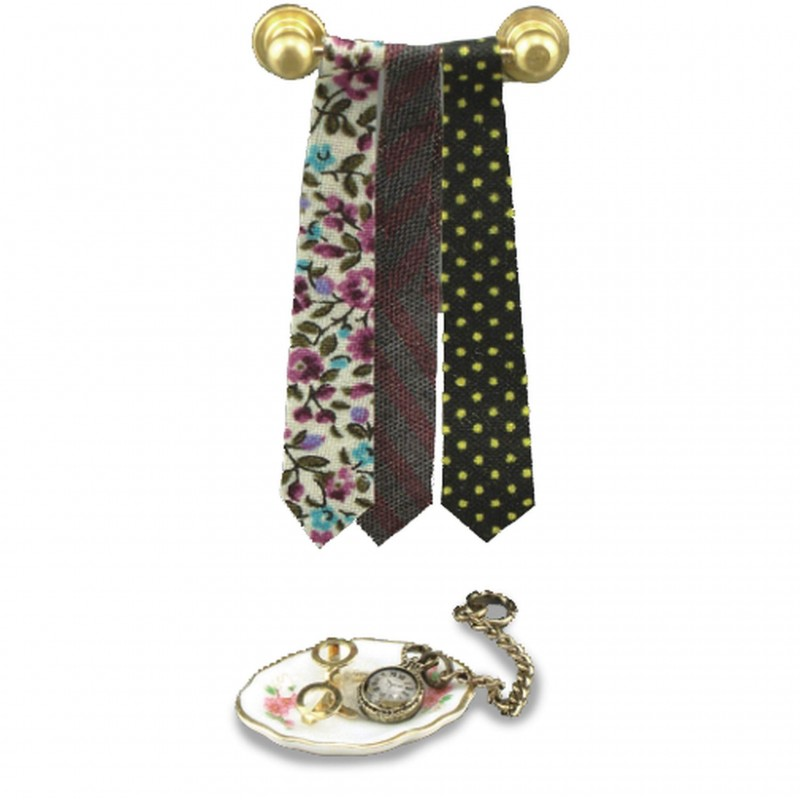 Tie Rack And Watch Set