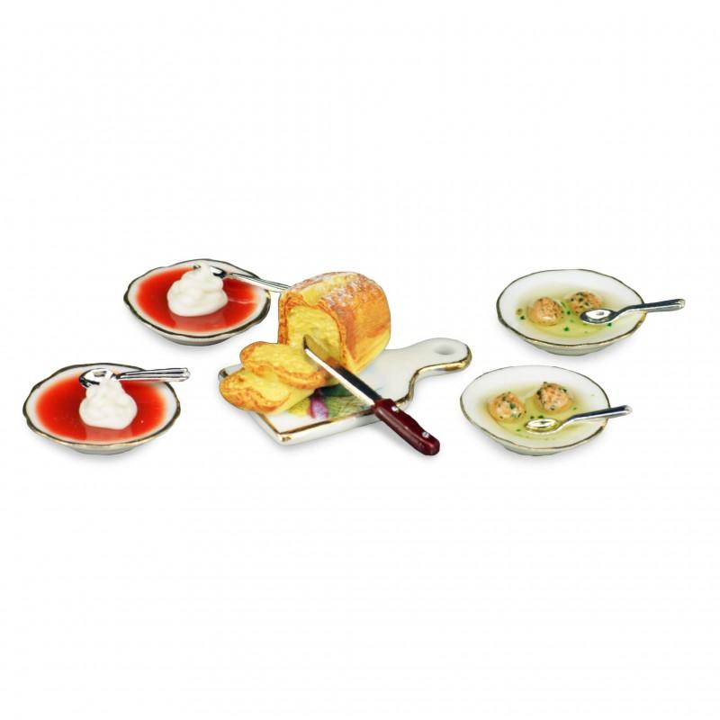 Dumpling And Tomato Soup