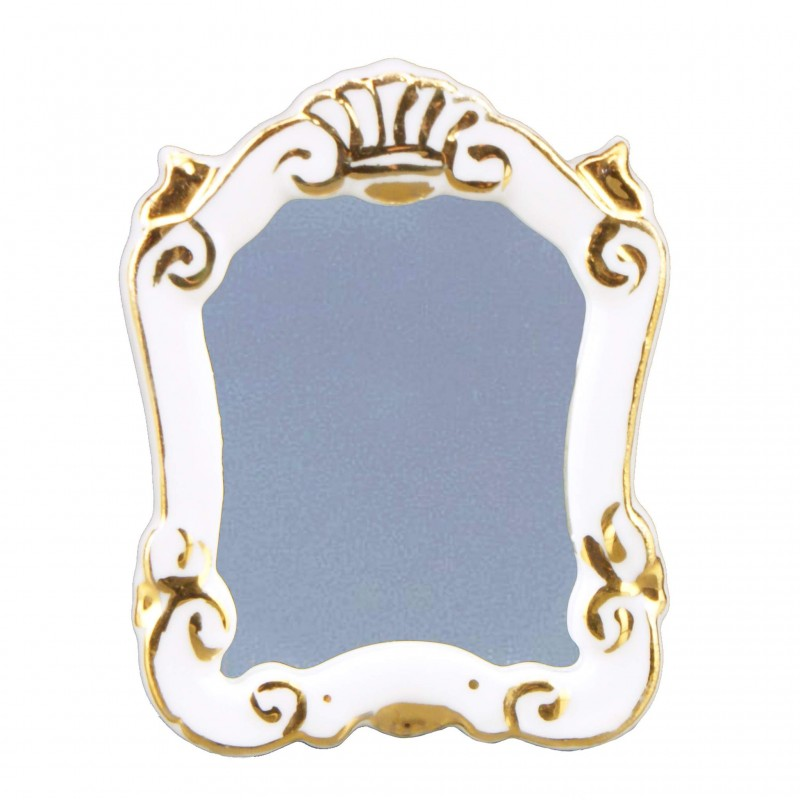 White Baroque Mirror