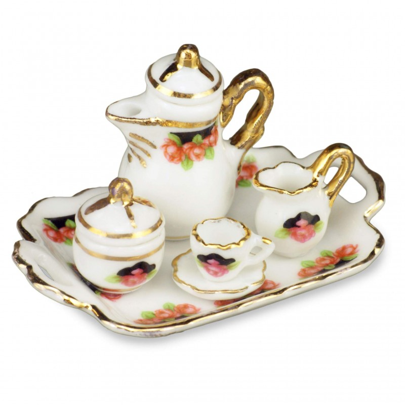 Bl;ack Rose Coffee Tray