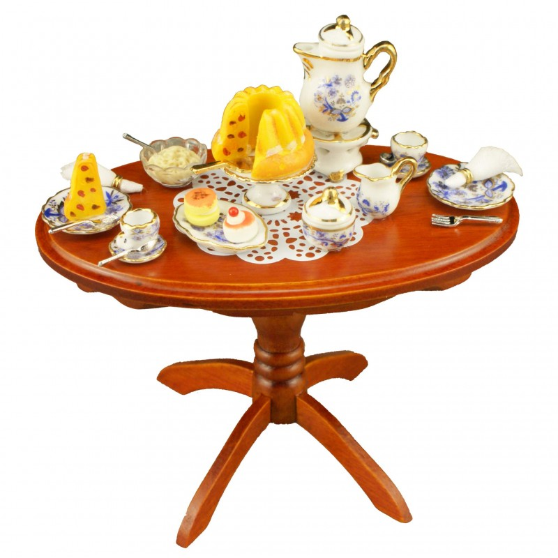 Blue Onion Oval Dinner Table
