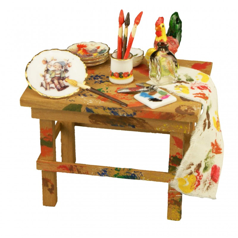 Painter's Table Decorated