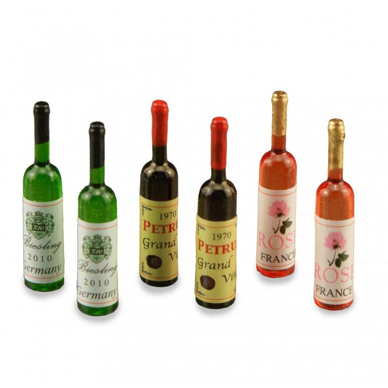 Wine Bottle Set, 6 pieces