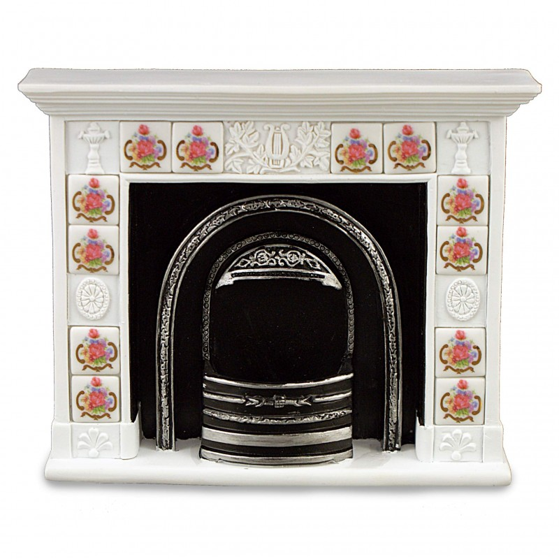 Fireplace With Dresden Rose Tiles