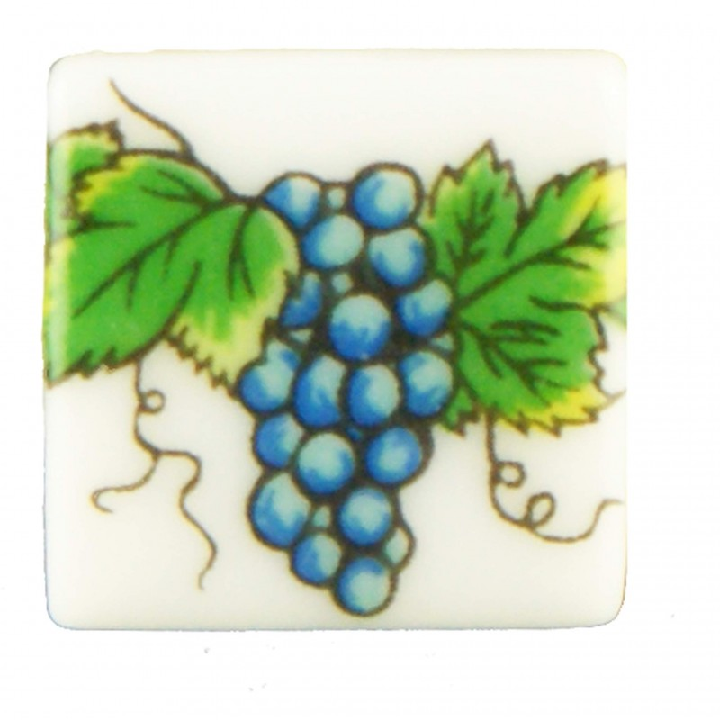 Tile Grapes, 6 pieces