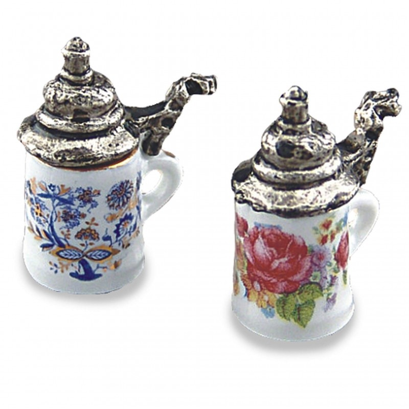 Beer Stein With Lid, 2 pieces