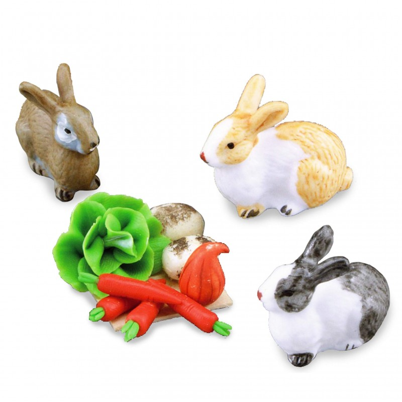 Rabbits With Food