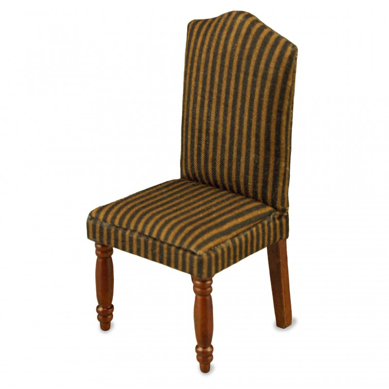 Brown Strips Wood Chair