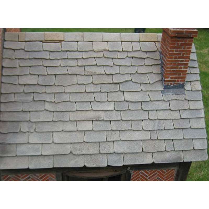 Grey Stone Roof Slabs, Large Pack