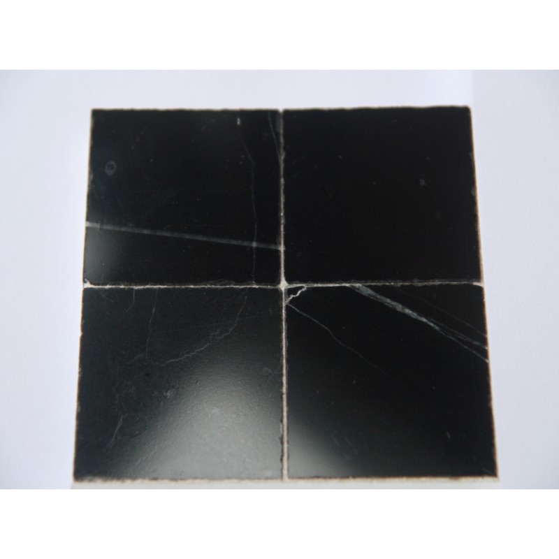 25mm Black Marble Tiles, 25 pack