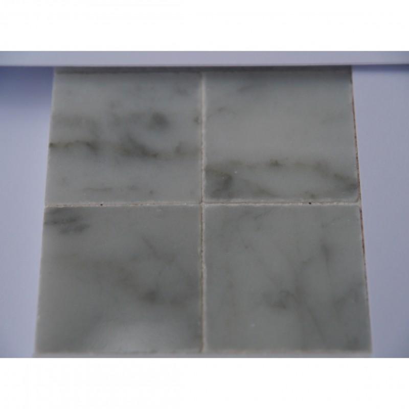 25mm White Marble Tiles, 25 pack