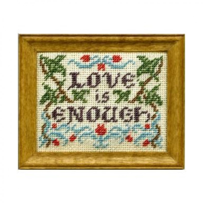 Love Is Enough Dolls' House Needlepoint Sampler Kit