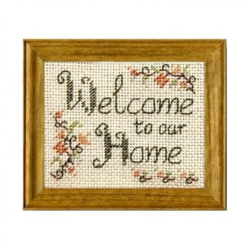 Welcome Dolls' House Needlepoint Sampler Kit