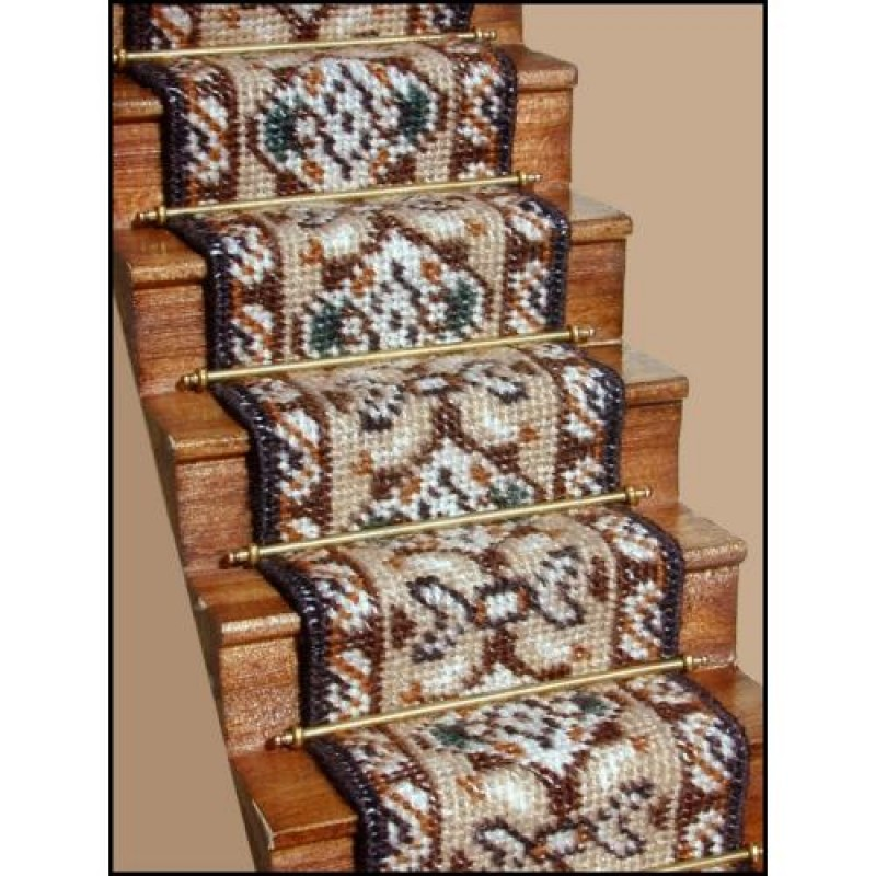 Amy (beige) Dolls' House Needlepoint Stair Carpet Kit