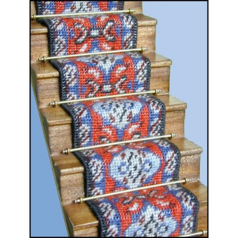Amy (red) Dolls' House Needlepoint Stair Carpet Kit