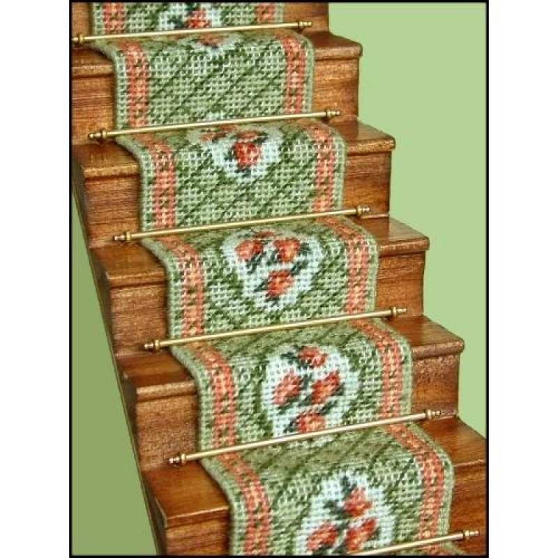 Barbara (green) Dolls' House Needlepoint Stair Carpet Kit