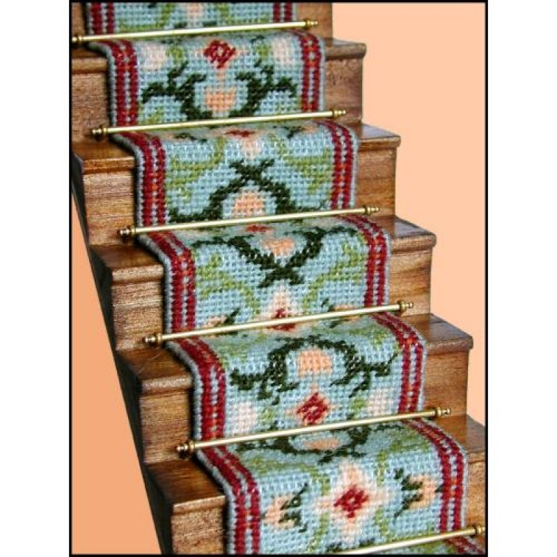 Carole (jade) Dolls' House Needlepoint Stair Carpet Kit