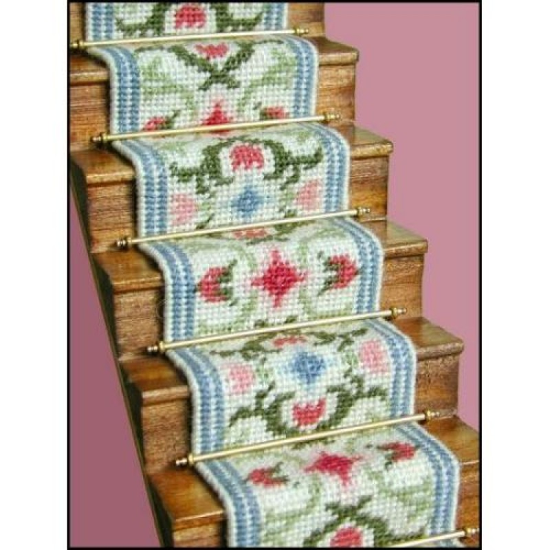 Carole (pastel) Dolls' House Needlepoint Stair Carpet Kit
