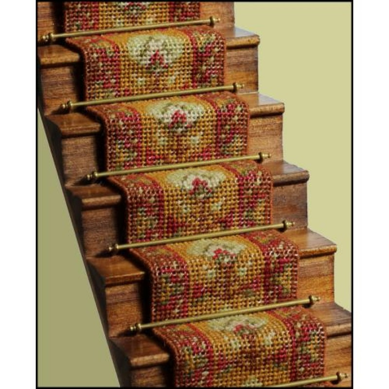 Yvonne (olive) Dolls' House Needlepoint Stair Carpet Kit