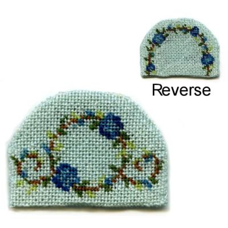 Flower Ring (blue) Dolls' House Needlepoint Teacosy Kit