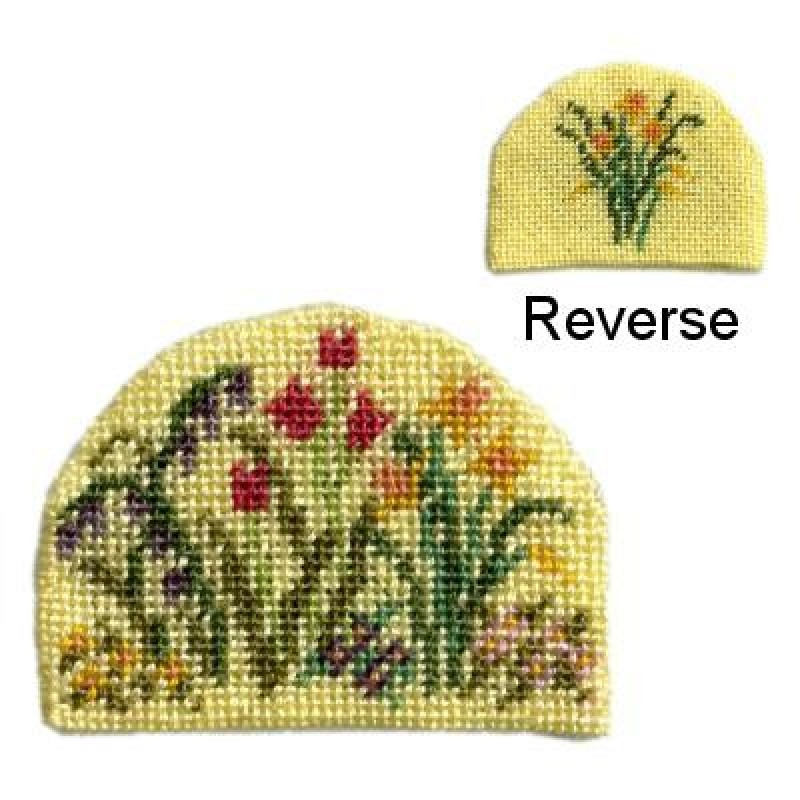 Spring Blooms Dolls' House Needlepoint Teacosy Kit
