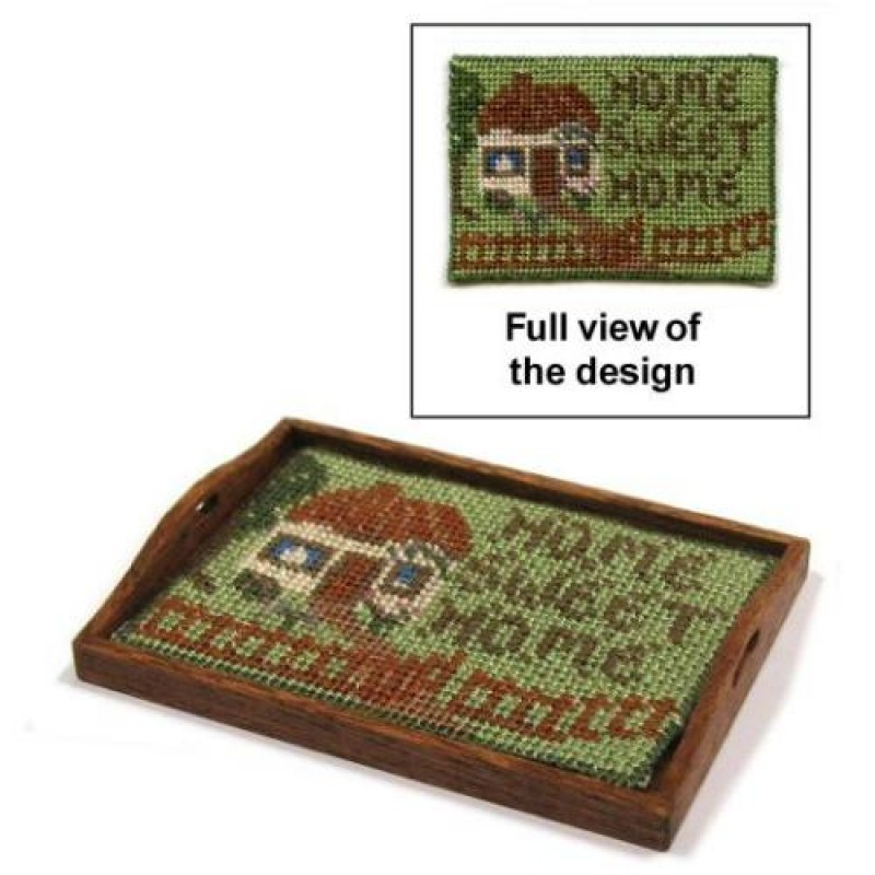 Cottage Dolls' House Needlepoint Tray Cloth Kit