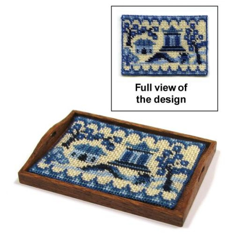 Willow Pattern Dolls' House Needlepoint Tray Cloth Kit