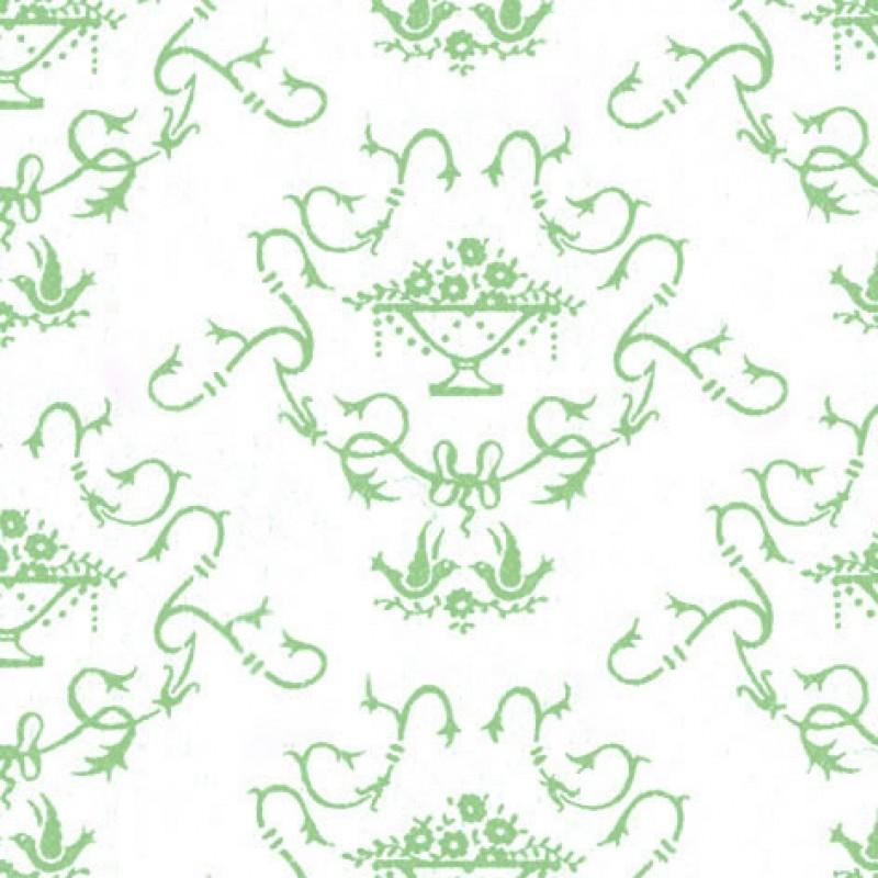 Small Interiors Bettiscombe Green On Cream