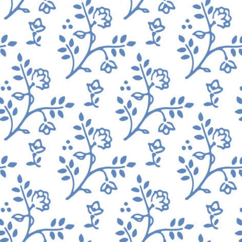 Small Interiors Julia Blue on White