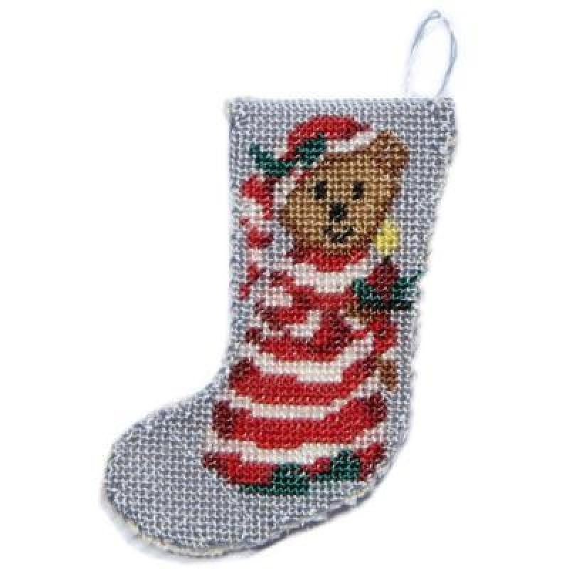 Bedtime Bear Dolls' House Needlepoint Christmas Stocking Kit