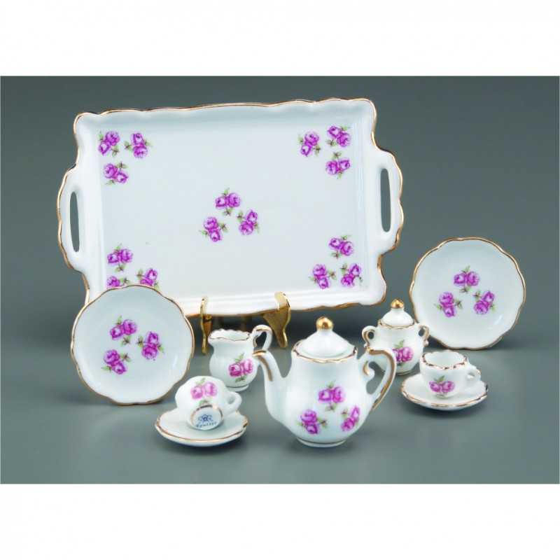Roses Tea Set With Tray