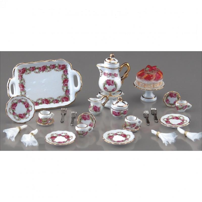Roseband Coffee Set, 25 Pieces