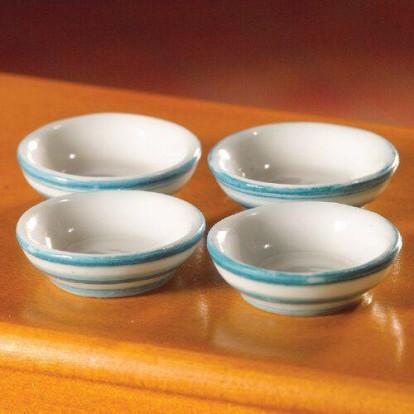 Dolls House Miniatures 1//12th Scale kitchen Accessory 2 Plastic Bowls D761
