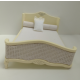 French-style Cream Double Bed ***SECONDS***