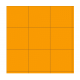 """3/4"""" Orange Vinyl Tiles, 50 Pack"""