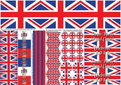 Union Jack Party Cut-out Sheet, A3 300 x 420mm 6682 £1.45