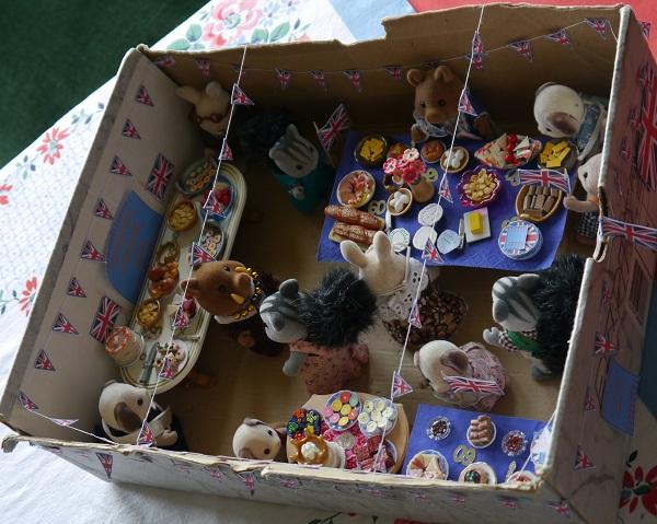 Jubilee party in miniature