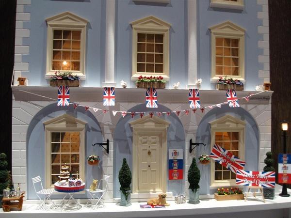 Jubilee dolls house street scene in miniature