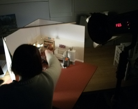 Benhind the scenes look at shooting the new Dolls House Emporium catalogue