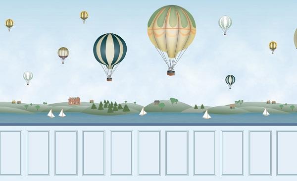 balloon wallpaper for dolls' houses