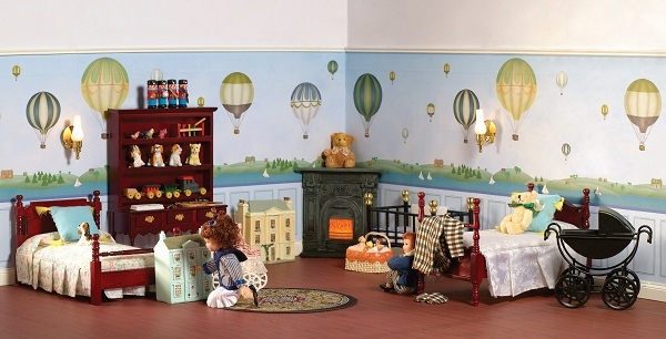 dolls house wallpaper bedroom - photo #25