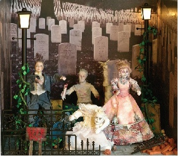 Spooky graveyard scene from The Dolls House Emporium