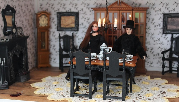 High Tea? - A miniature scene for Hallowe'en