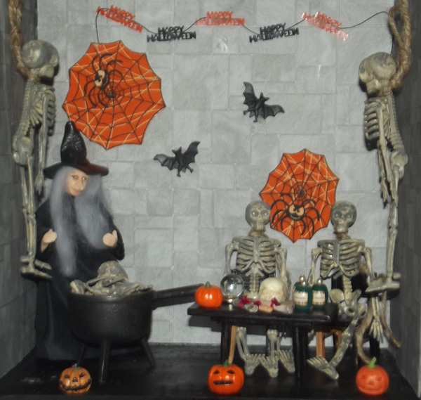 come dine with me miniature scene halloween