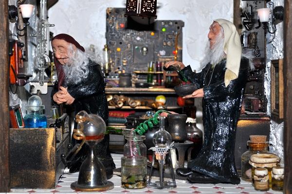 Castle Wizard's Tower Laboratory - Tony Middleton's Cumberland Castle: The Dolls House Emporium