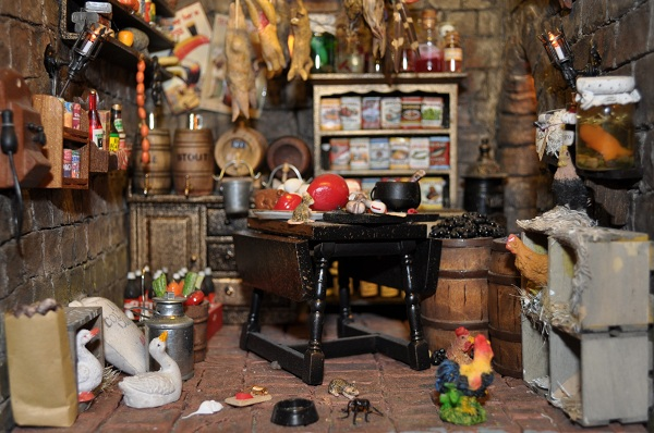 Castle Wizard's Tower Pantry - Tony Middleton's Cumberland Castle: The Dolls House Emporium