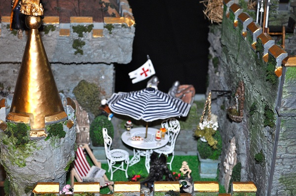 Castle Roof Top Patio - Tony Middleton's Cumberland Castle: The Dolls House Emporium