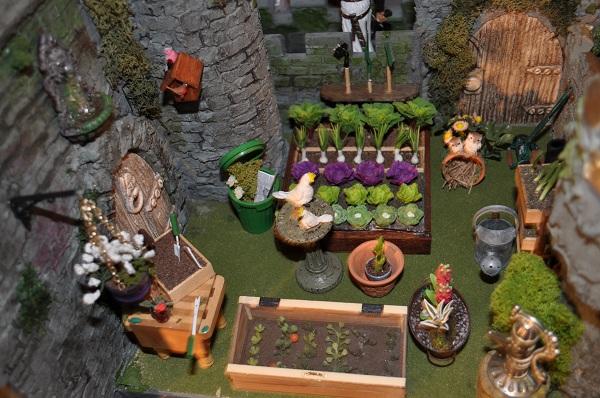 The Castle Vegetable Garden - Tony Middleton's Cumberland Castle: The Dolls House Emporium
